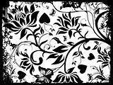 Abstract grunge background of vector floral