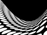 Abstract halftone wave in black and white