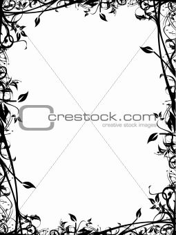 Abstract vector floral frame