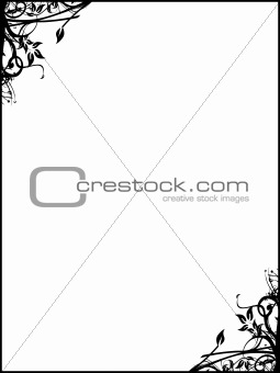 Abstract vector illustration floral frame