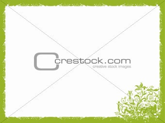Branch and flower theme, frame vector wallpaper