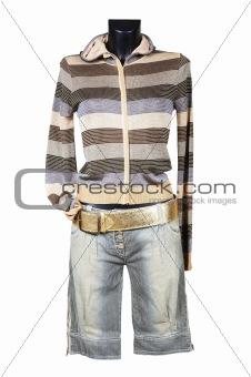 Knitted female jacket