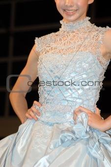 Blue Bride dress