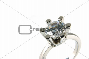 Big crystal ring