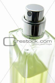 Close up of perfume bottle
