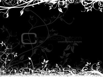 Frame of vector floral