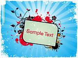 Grunge sample text Vector illustration