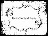 Sample text on grunge background, vector wallpaper