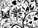 Vector illustration background of abstract grunge floral