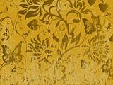 Vector illustration of abstract grunge floral background