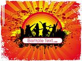 wallpaper of silhouette dancing people in sample text theme