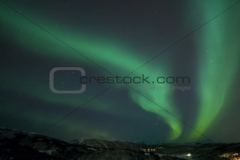 Aurora and landscape