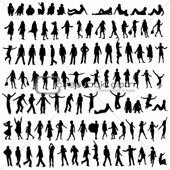 100 silhouettes