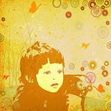 girl with circles