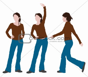 woman posture