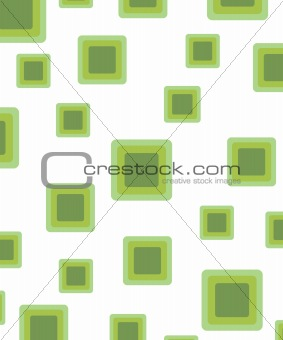 green retro rounded squares