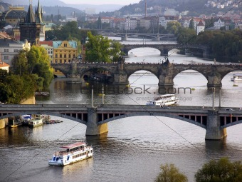 Prague Vlatava River