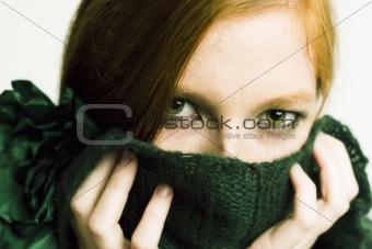 green eyed redhead