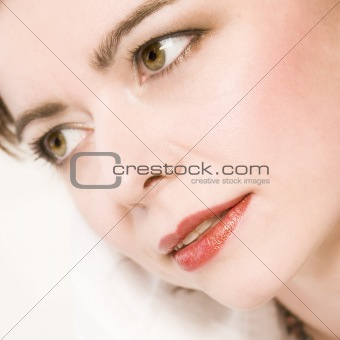 cliose portrait of a beautiful middle aged woman