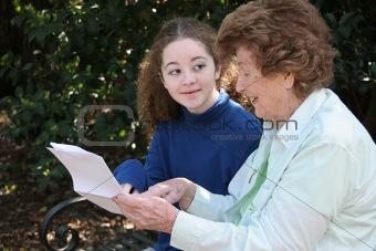 Grandma Sharing Wisdom