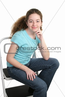 Relaxed Teen In T-shirt