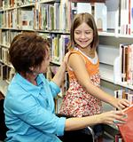 School Library - Choosing Book