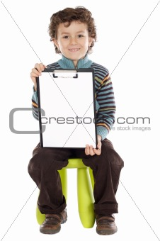 boy with clipboard