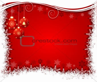 Christmas bulbs with snowflakes, vector