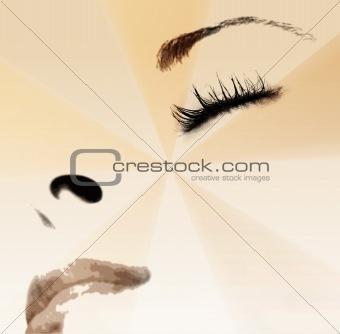 Beautiful girlr - sleeping. Close-up