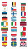 Flags of member states of Europen Union (EU)