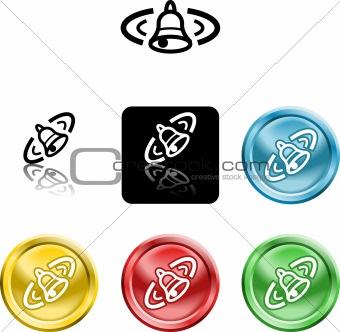 alarm bell icon symbol