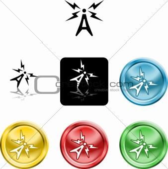 antenna symbol icon
