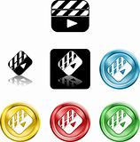Film Clapper icon symbol