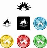 explosion icon symbol