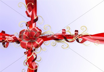 Gift ribbon and bow background