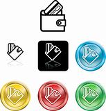 wallet and credit card icon symbol