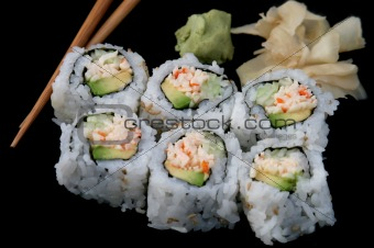 California Roll on Black