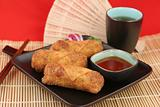 Chinese Egg Rolls &amp; Tea 1