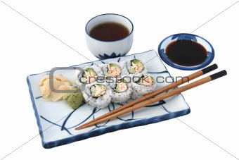 Sushi Meal Complete Isolated