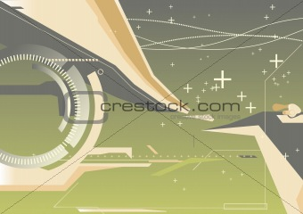 abstract techno background