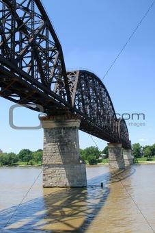 Ohio River Railroad Bridge Vert