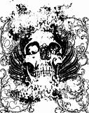 grunge skull  vector illustration