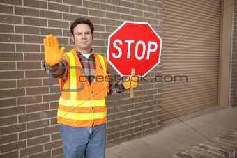 Crossing Guard at School