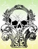 Gothic skull vector illustration