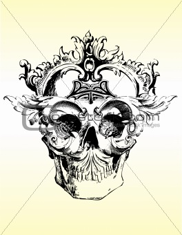 Twisted skull vector illustration