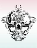 Mangled skull vector illustration