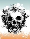 Decayed skull vector illustration