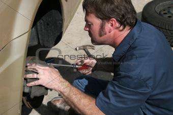 Inspecting Brake Housing
