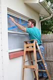Taping Window Glass