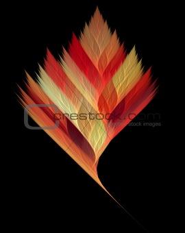fractal serrated leaf